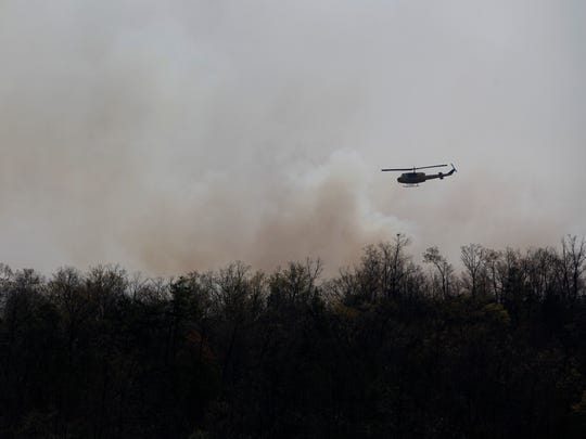 Views of the Dobson Knob Fire in McDowell County April 10, 2017.