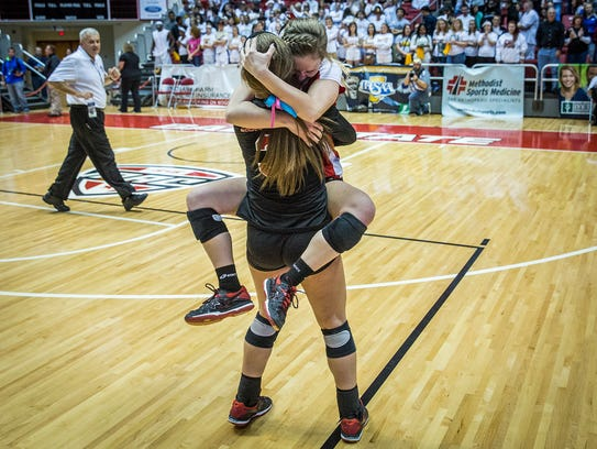 Wapahani celebrates a State Championship win against