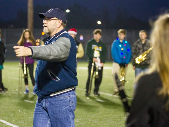 Marysville Viking Regiment director David Duso gives