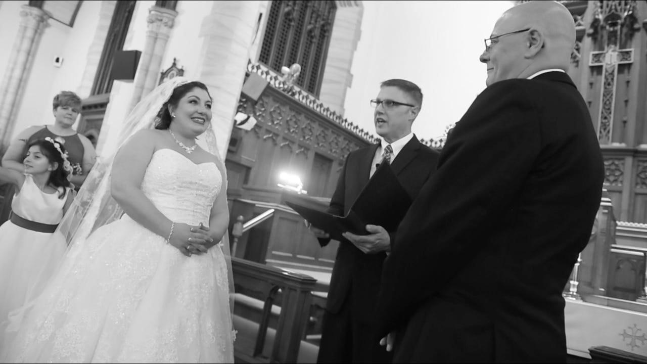 When Penny and Adam found out his diagnosis of pancreatic cancer only gave him eight months to live, the duo pushed up their wedding.