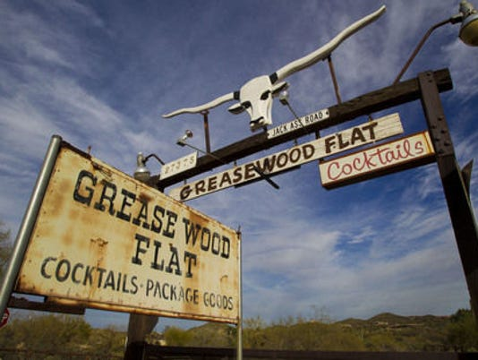 Greasewood Flat signage