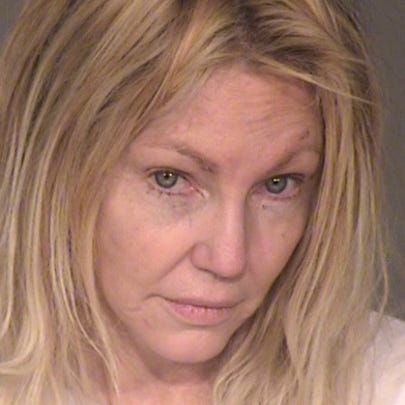 Heather Locklear's Feb. 25, 2018, booking photo.