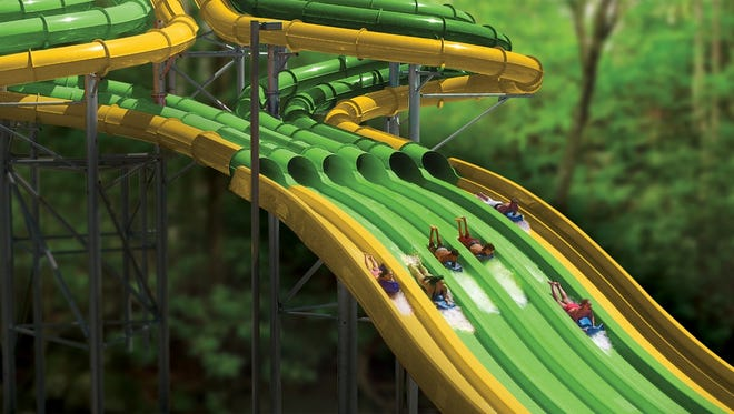 The TailSpin Racer will allow up to six participants to race each other down the slide. Dollywood/Special to the News Sentinel.