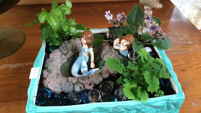 You can create an enchanting flower fairy garden in almost any kind of container.