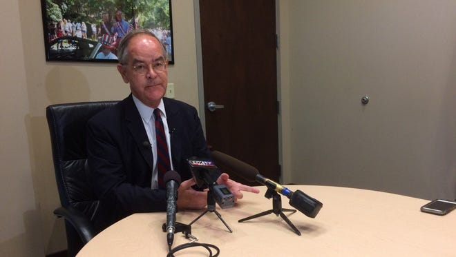 U.S. Rep. Jim Cooper, D-Nashville, speaks at a media briefing about the Senate's Better Care Reconciliation Act on June 26, 2017.