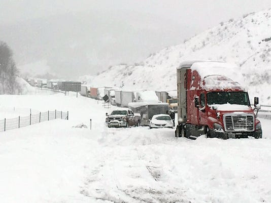 Big Snowstorm Pennsylvania Turnpike