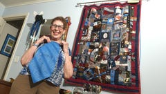 Patchwork quilt ties family members together