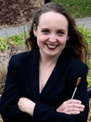 Binghamton Downtown Singers conductor Marisa Crabb will perform with the Binghamton Philharmonic at Saturday's concert.