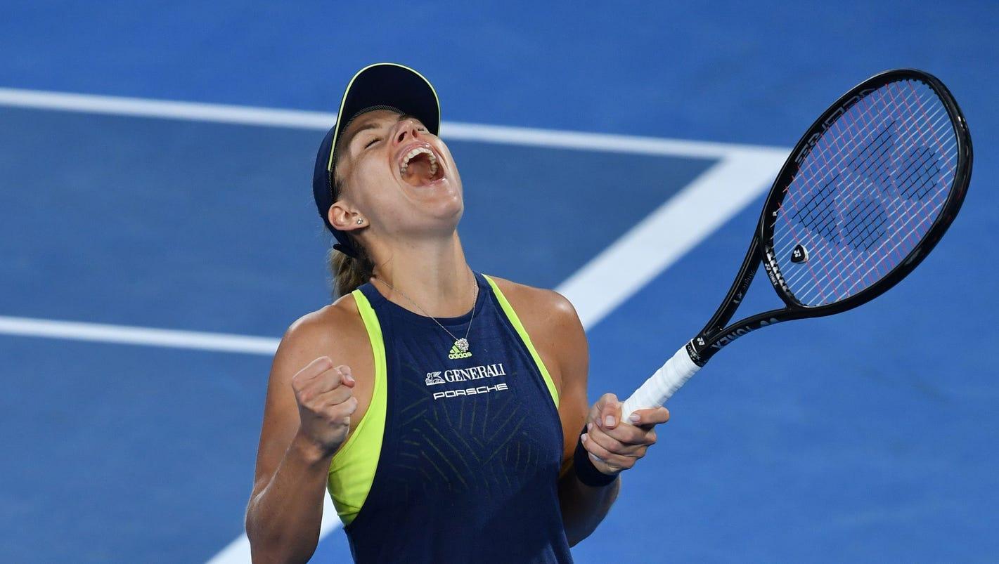Australian Open: Angelique Kerber cruises to victory against Maria Sharapova