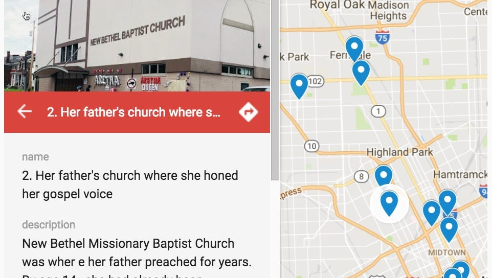 Interactive map: Detroit made impact on Queen