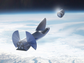 A rendering of SpaceX's proposed BFR delivering a satellite