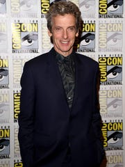 "Actor Peter Capaldi attends the BBC America ""Doctor Who"" photo call during Comic-Con International 2015 at the Hilton Bayfront on July 9, 2015 in San Diego, California."