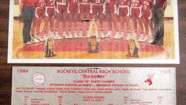 The Buckeye Central Buckettes' 1984-85 state championship basketball team will be a 2016 Crawford County Sports Hall of Fame member.