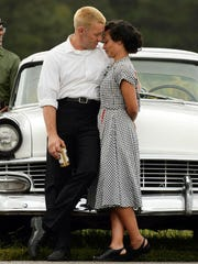 """This image released by Focus Features shows Ruth Negga, right, and Joel Edgerton in a scene from, """"Loving."""""""
