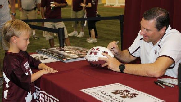 Dan Mullen signing ball HS
