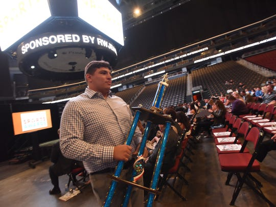 Eric Chakonis, of Don Bosco, was named the Male Athlete of the Year at the NorthJersey.com Sports Awards ceremony at Prudential Center in Newark on Wednesday.