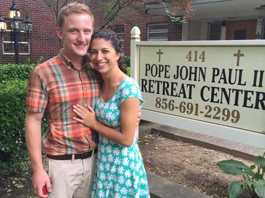 Jed Wardecke drove Anne Gates to the Pope John Paul