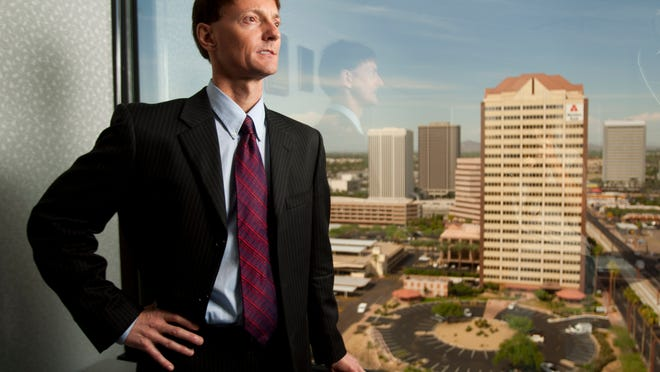 Paul Matson, director of the Arizona State Retirement System, is seen in his office in Phoenix on October 15, 2010.