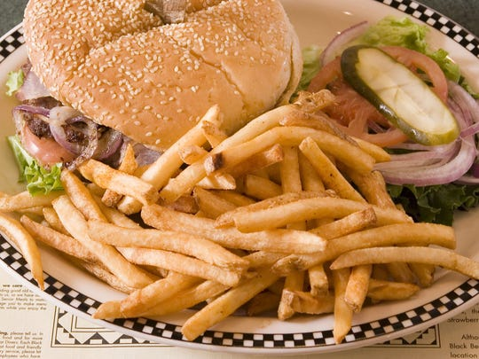 Burgers and fries are among the dishes at Black Bear Diner.