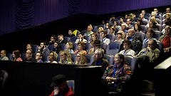 Attendees watch a screening at the 2015 Nashville Film Festival. The festival will move from spring to fall in 2019.
