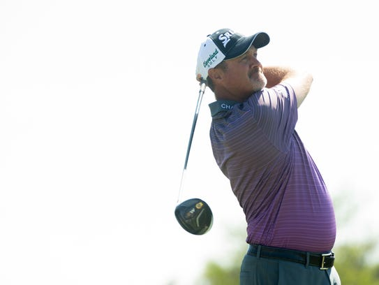 PGA Tour Pro Jerry Kelly during the first round of