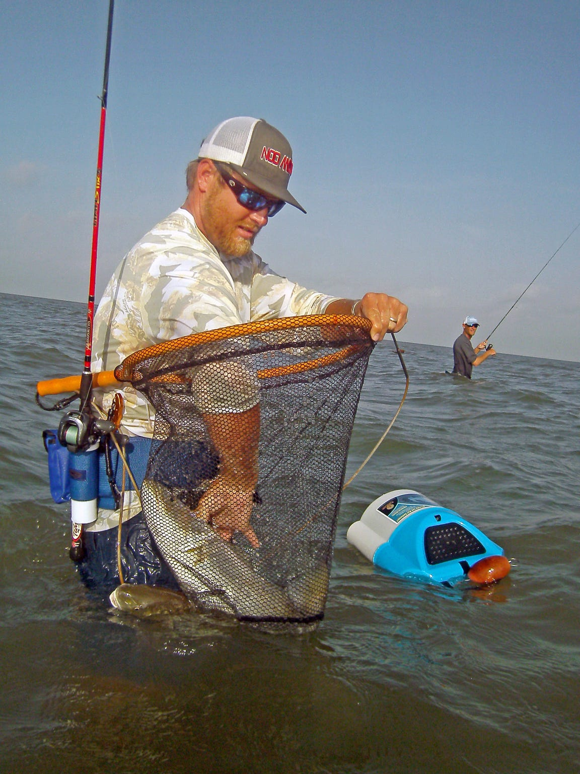 If you use live bait, you'll need a submersible bait bucket.