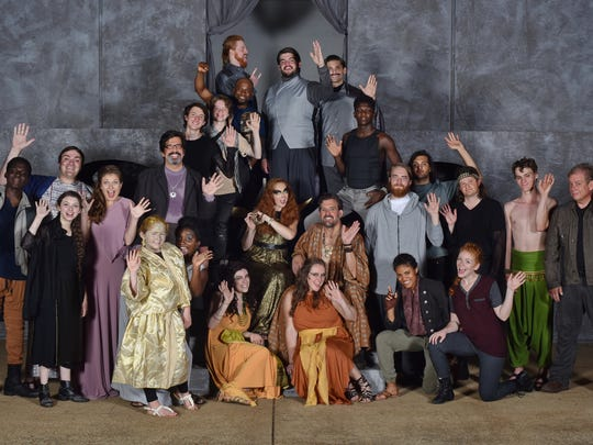 """The cast of Nashville Shakespeare Festival's """"Antony & Cleopatra"""" will be in Franklin for Shakespeare in the Park."""