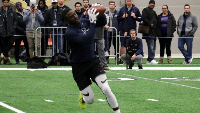 Chris Godwin backed up his strong NFL Combine performance with Thursday's efforts at Penn State's Pro Day. He may be a second-round NFL Draft choice next month.