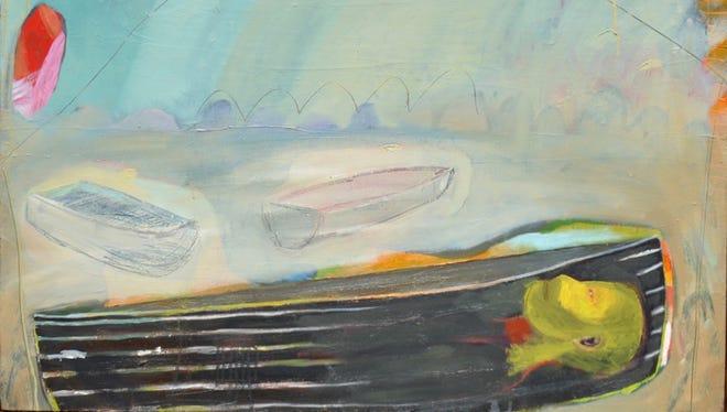 "John Paul Kesling, ""Hidden King,"" 2016, oil and pencil on canvas, 48x48."""