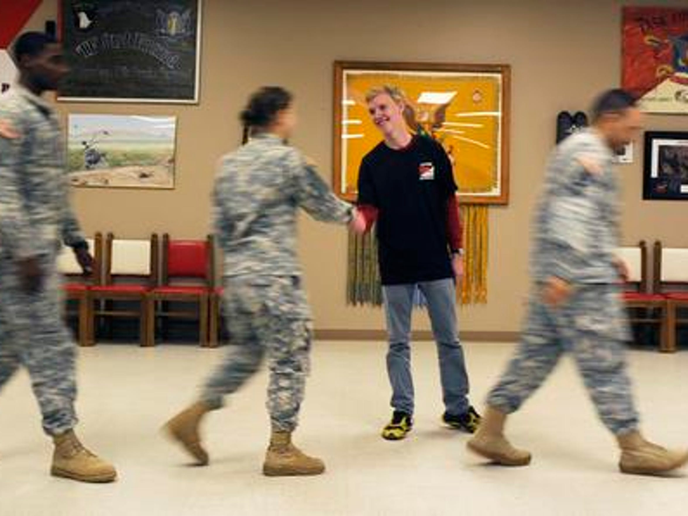 Jack Zimmerman, an 18-year-old with cystic fibrosis, received his Make a Wish request with the help of the 2nd Squadron, 17th Cavalry Regiment, 101st Combat Aviation Brigade at Fort Campbell on Dec. 13, 2014.