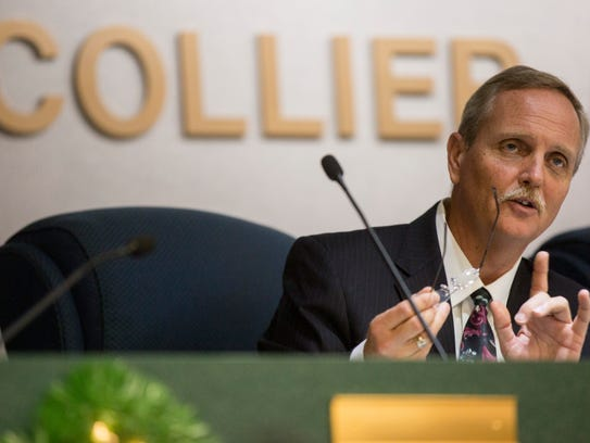 In this 2016 photo, District 5 Commissioner William McDaniel speaks during a Board of County Commissioners meeting.