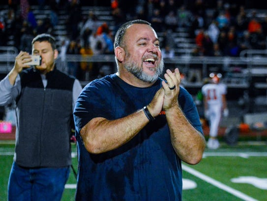 After going 1-9 in Russ Stoner's first year as York High head coach in 2016, the Bearcats completed a dramatic turnaround in his second year, going 9-1 this season. John A. Pavoncello photo