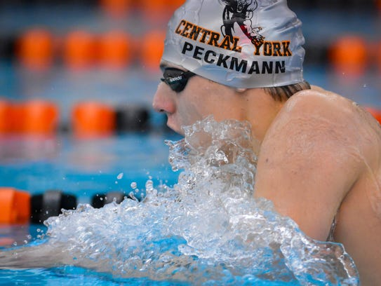 Central York's Alec Peckmann is a York-Adams League first-team swimming all-star in three events. YORK DISPATCH FILE PHOTO