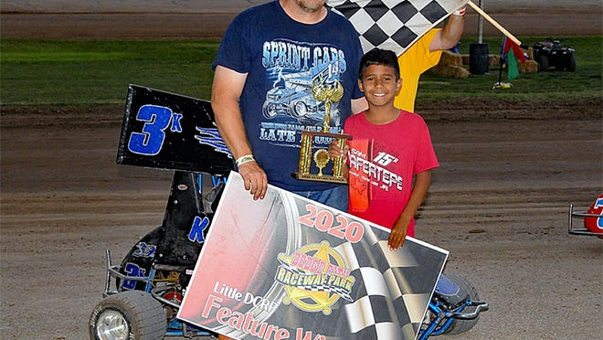 Keenan Hernandez won his first Advanced Junior Sprint win of the year over the weekend at Dodge City Raceway Park.