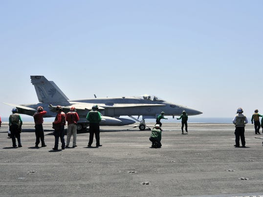 Navy FA-18 photo of Iraq raid