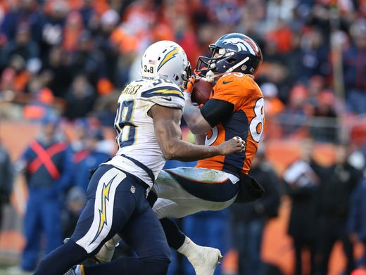 Broncos outlast Chargers, set up Manning-Brady showdown