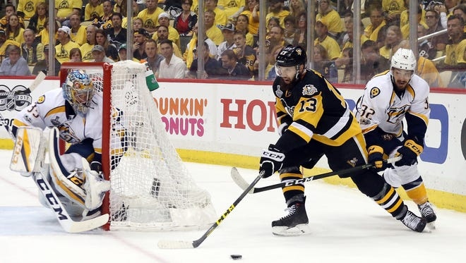 New Predators forward Nick Bonino could start as the team's second-line center next season.