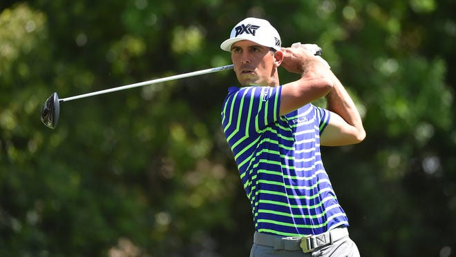 Billy Horschel tees off on the 9th green during the first round of the Valspar Championship golf tournament  at Innisbrook Resort - Copperhead Course on March 9.