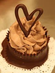 Step 9~ Garnish with chocolate hearts and serve!