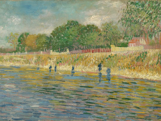 """Vincent van Gogh, """"The Banks of the Seine,"""" 1887, oil on canvas, Van Gogh Museum, Amsterdam (Vincent Van Gogh Foundation)"""