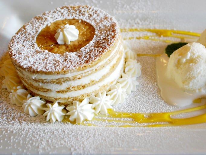 Milk & Honey: Honey Stack Cake with honey gelato.