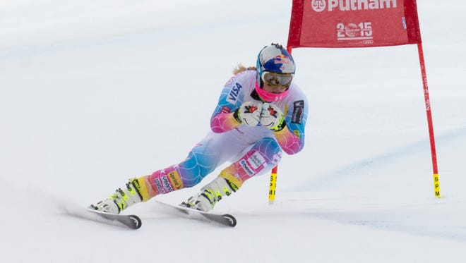 Lindsey Vonn trains for the downhill at the US Ski Team Speed Center at Copper Mountain in Colorado on Nov. 6.