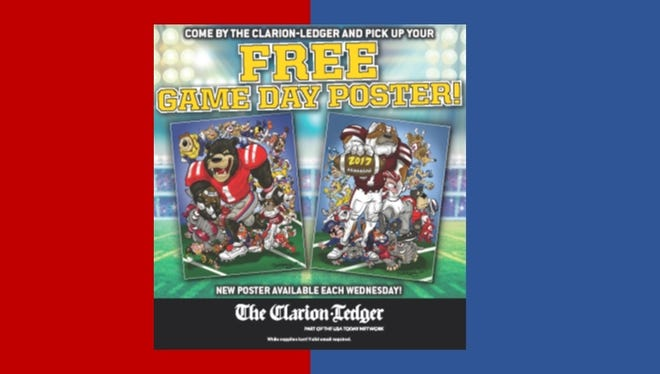 Clarion Ledger game day poster