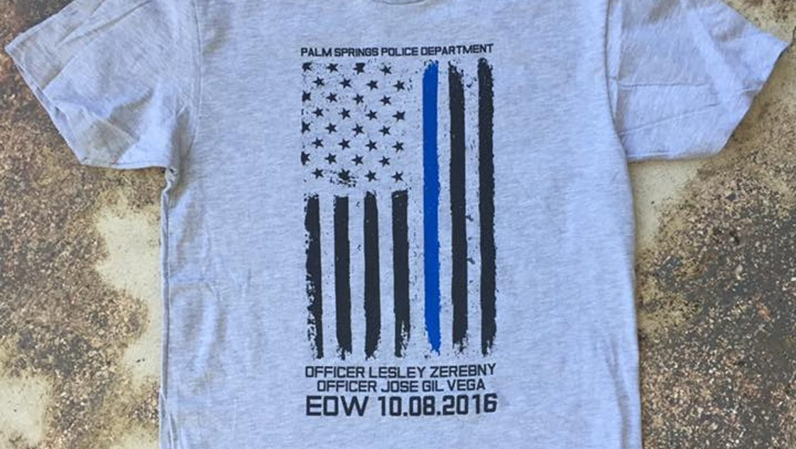 T shirts sales to benefit fallen palm springs officers for T shirt city palm springs