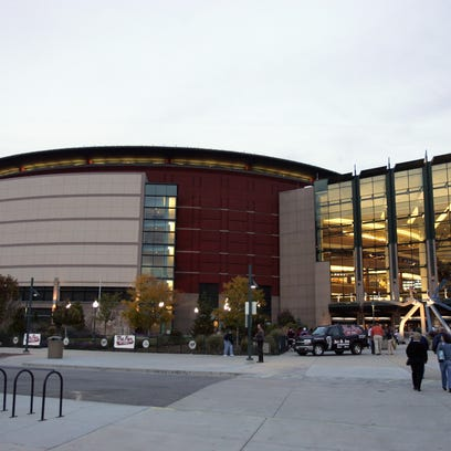 An exterior view of the Pepsi Center