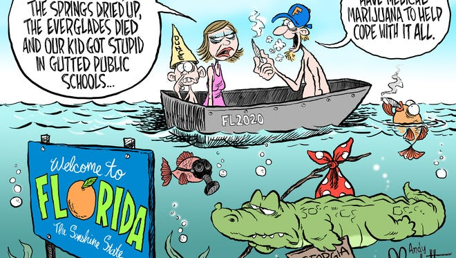 Sunny in Florida commentary by Andy Marlette