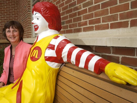 Teddy Thomas, executive director of the Ronald McDonald House of Southern New Jersey in Camden, hangs out with a familiar face in 2003. Since its inception, the Ronald McDonald House had undergone renovations and improvements.