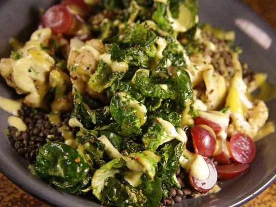 Lentil Cauliflower Bowl (lunch only): Organic cauliflower,