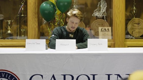 Carolina Day senior Austin Prichard has signed to play college baseball for Methodist.