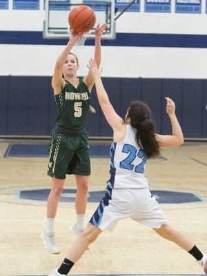 Howell's Alexis Miller scored a career-high 38 points in a 62-22 victory at Livonia Stevenson.